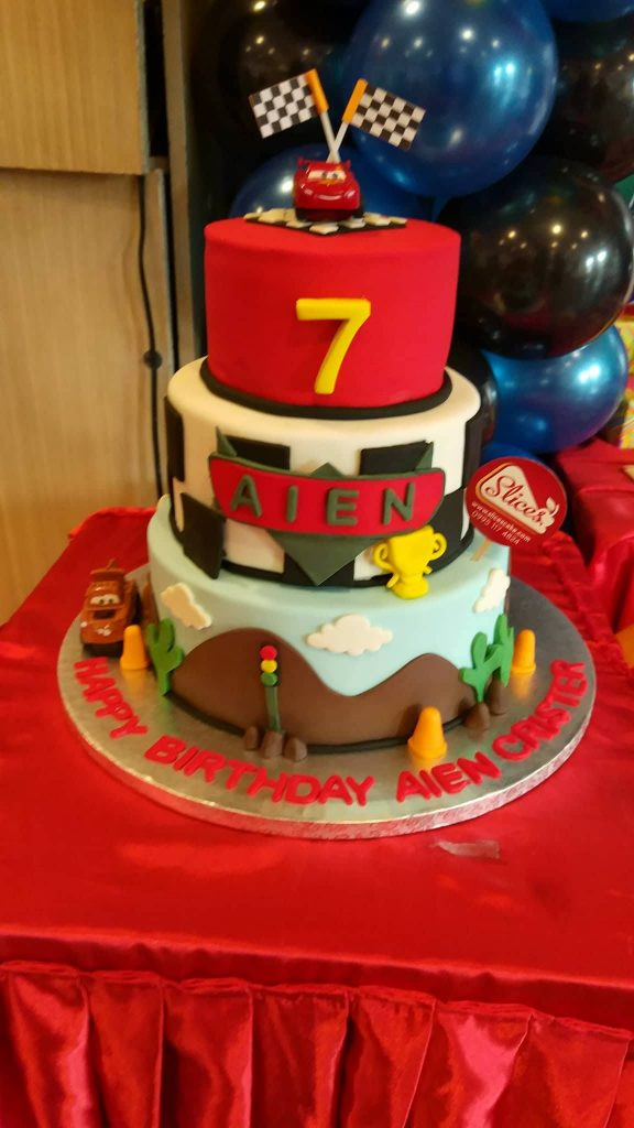 Three Layers Cars Themed Fondant Cake Manila By Slices