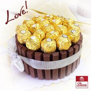 kitkat cake with ferrero