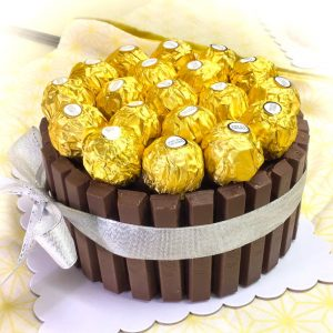 Kitchoc Ferrero Rocher cake